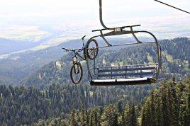 Bike on a Ski Lift
