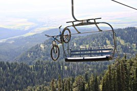 Bike on a Ski Lift