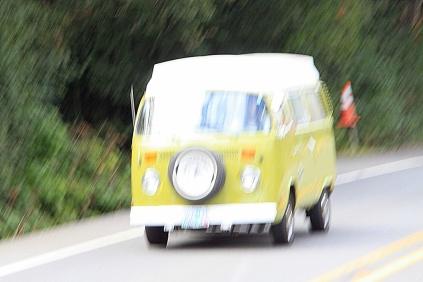 Blurry Camper Bus