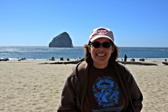 Karen at Cape Kiwanda
