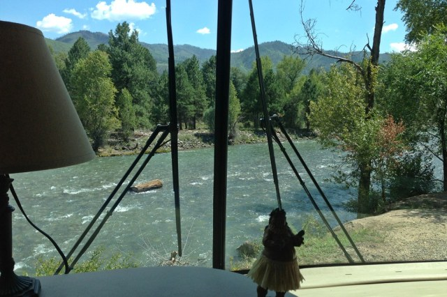 August 29, 2013 - View from Durango Riverside RV Site