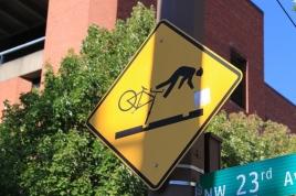 Flying Bicyclist