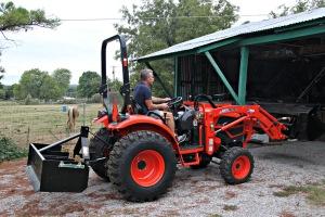September 16, 2012 - Gary Moves Tractor Inside