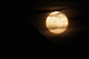 July 23, 2013 - Moonrise Over the Tetons