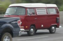 Red Camper Bus