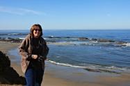 Karen at the Ocean