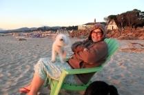 Karen and Peggy at Rockaway Beach