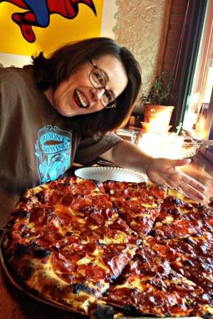 Karen and Messenger Pizza