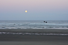 Rockaway Beach Moonset
