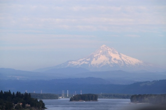 Mount Hood and Columbia River