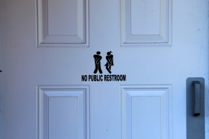 August 2, 2012 - No Public Restroom