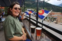 Karen at Ouray Brewing