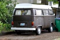 Brown Camper Bus