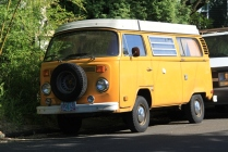 Yellow Camper Bus