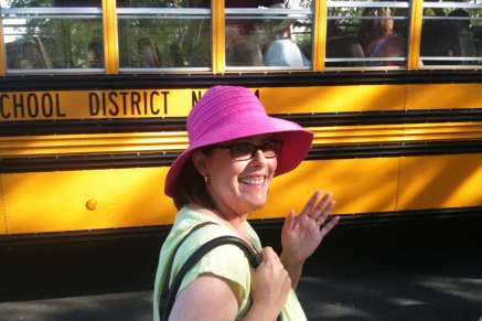 Karen at the School Bus