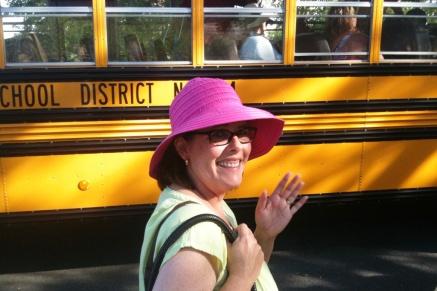 Karen at the School Bus