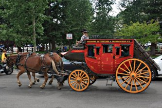 O-ho the Wells Fargo Wagon is a-coming down the street