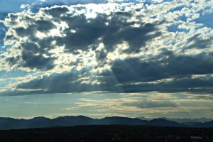 July 9, 2013 - Sun Rays over the Mountains