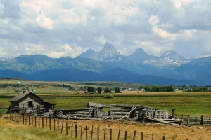 July 15, 2012 - Idaho farm with Tetons view
