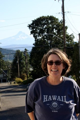 Karen and Mount Hood
