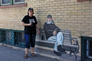 Karen and Mr. Mural